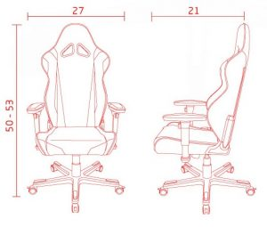 DXRacer Racing measurements
